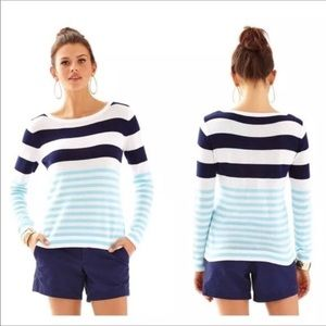{Lilly Pulitzer} Gwyneth Striped Pullover Size XS